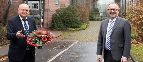 Intendant Manfred Krupp und Rundfunkratsvorsitzender Harald Brandes